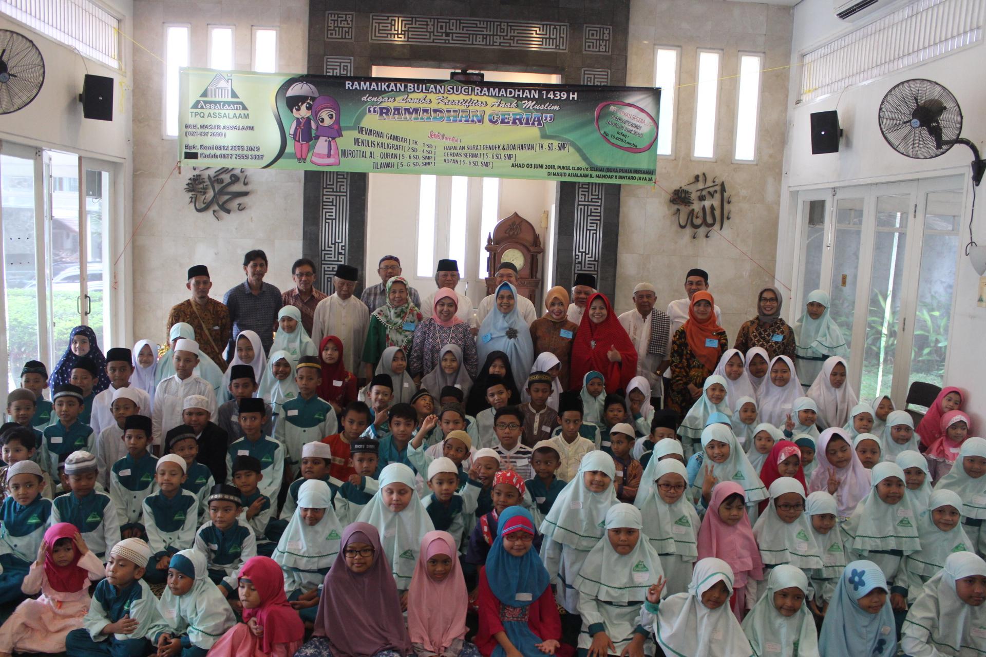 Lomba Kreatifitas Anak Muslim Di Masjid Assalaam Semakin Meriah Hijaubintaro